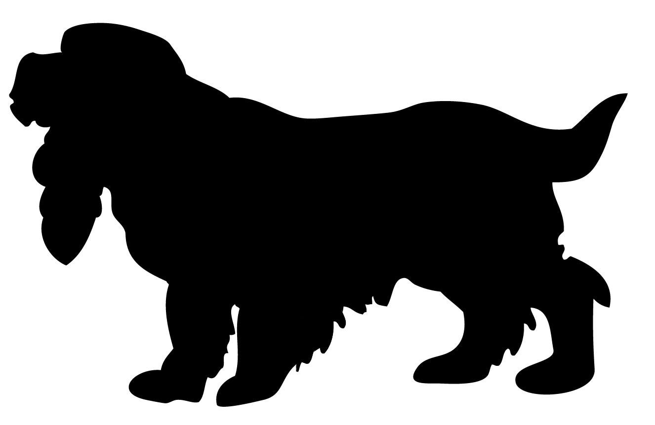Cocker spaniel silhouette clipart.