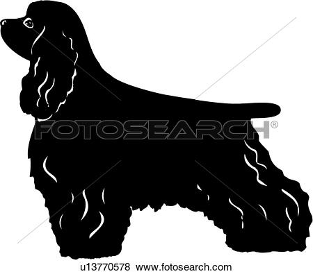 Cocker spaniel Clip Art Royalty Free. 182 cocker spaniel clipart.