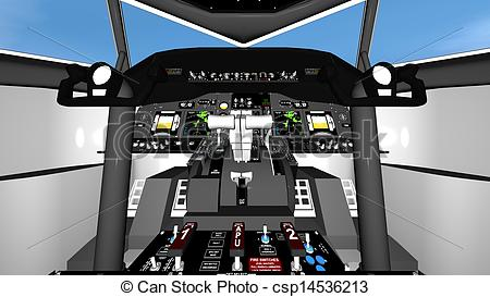 Clipart of cockpit of airplane csp14536213.