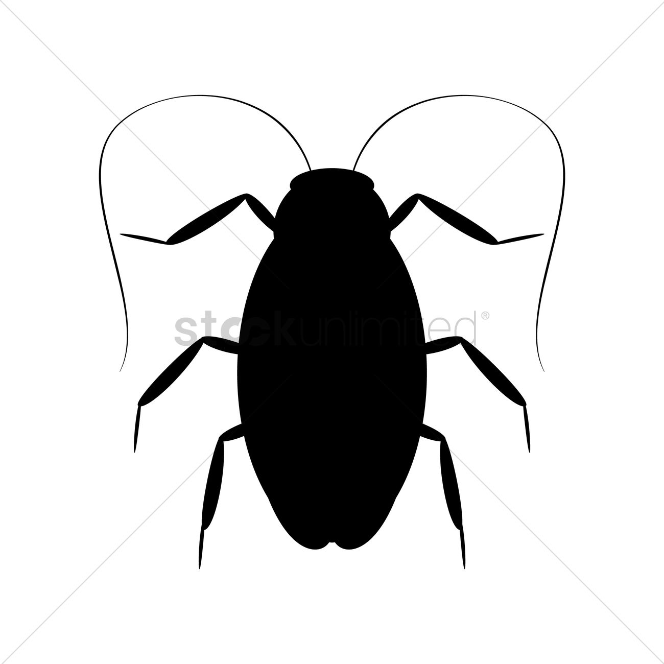 Cockroach silhouette Vector Image.
