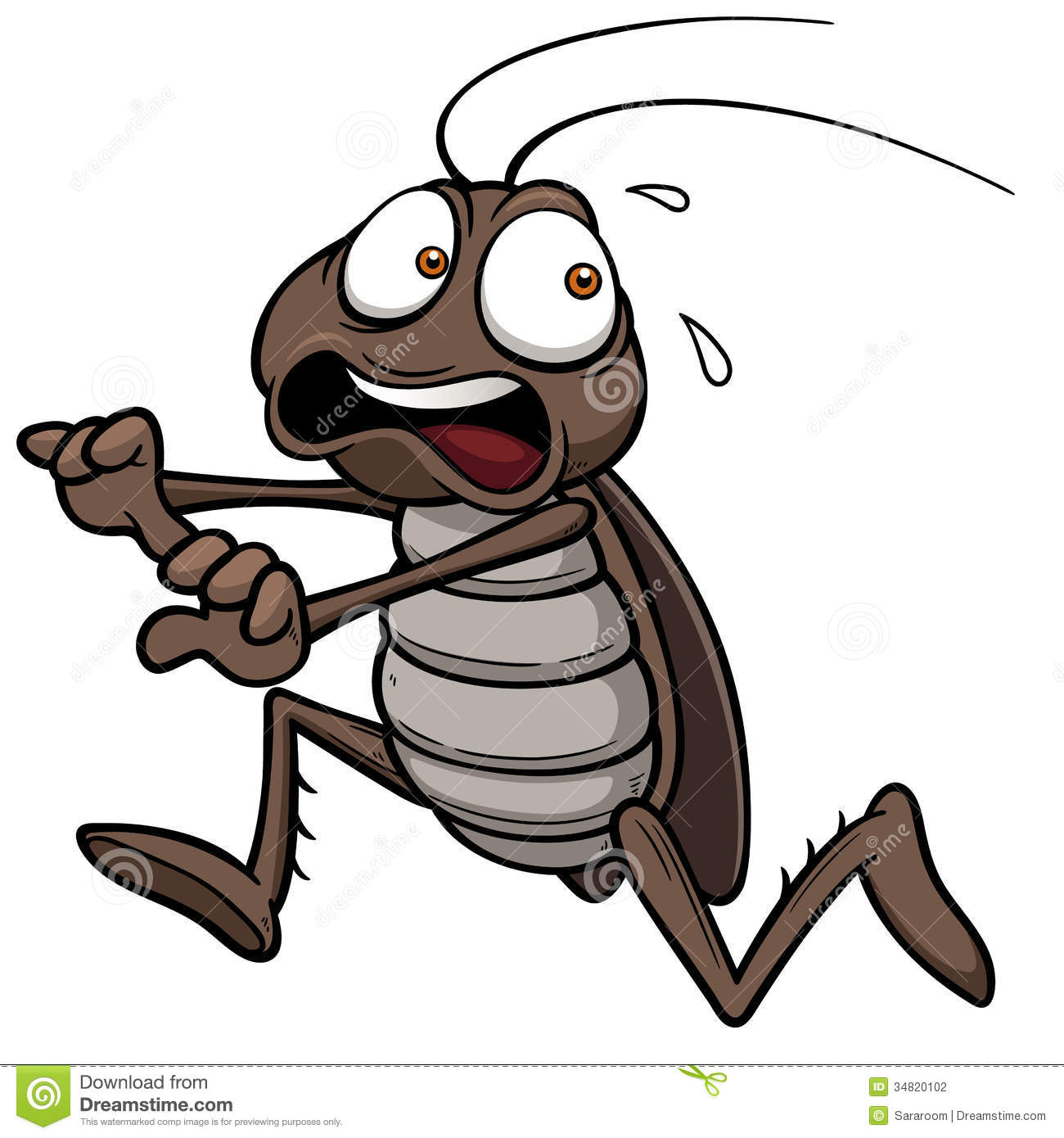 Clip Art Flying Cockroaches.