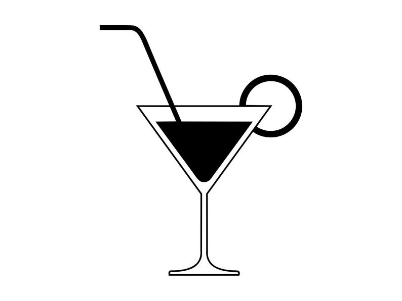 Cocktail Svg, Cocktail Clipart, Cocktail Silhouette Svg, Beverage Clip Art,  Drink Png, Cut File Vector, Beverage Clipart, Dxf Png.