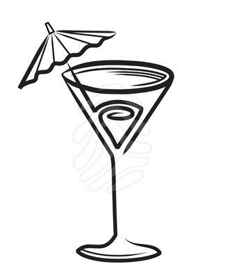 Clip art: Cocktail.