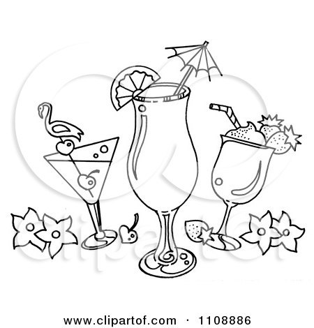 Black and white cocktails clipart » Clipart Portal.