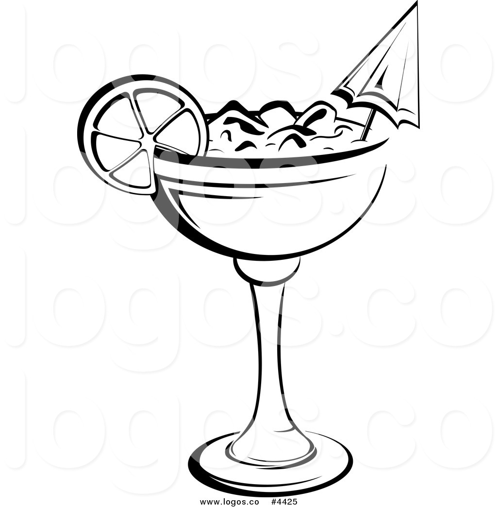 Cocktail clipart black and white 10 » Clipart Station.