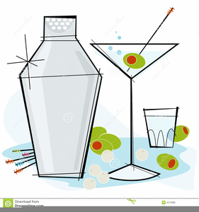Retro Cocktail Clipart Free.