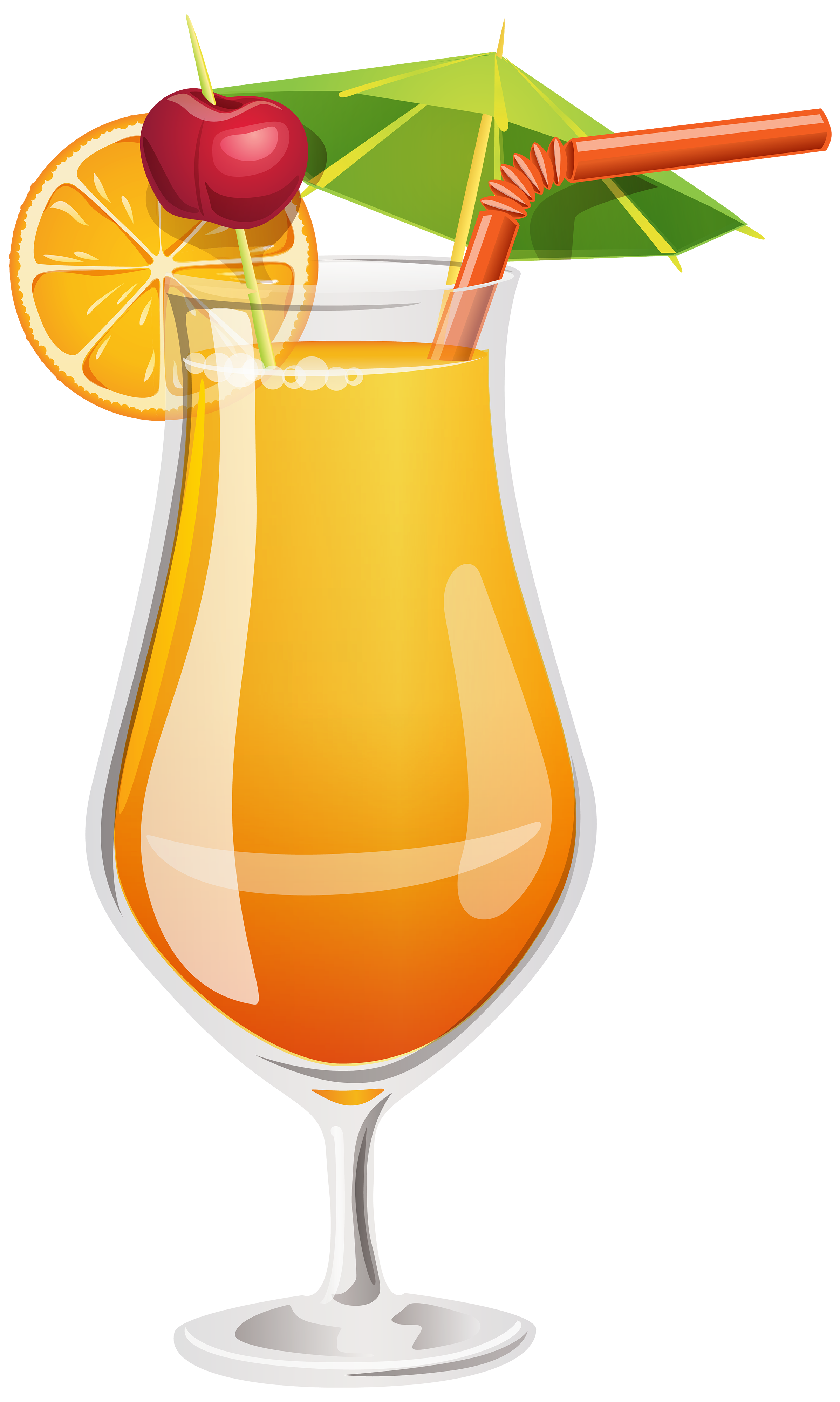 Orange Cocktail PNG Clipart.