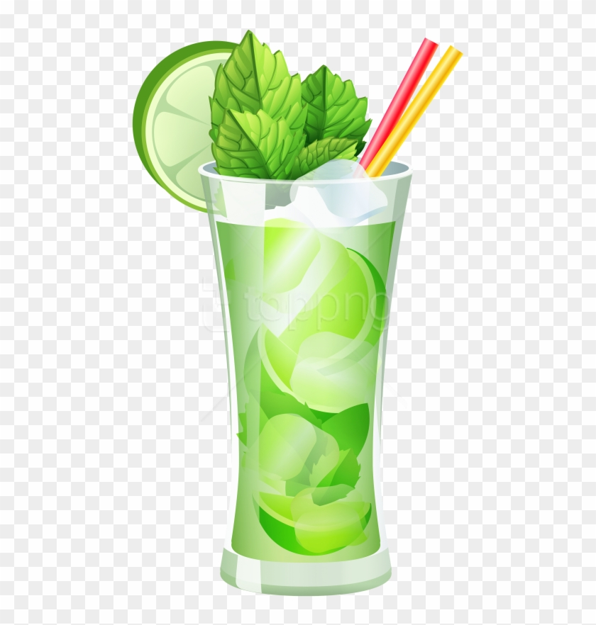Free Png Download Transparent Mojito Cocktail Clipart.