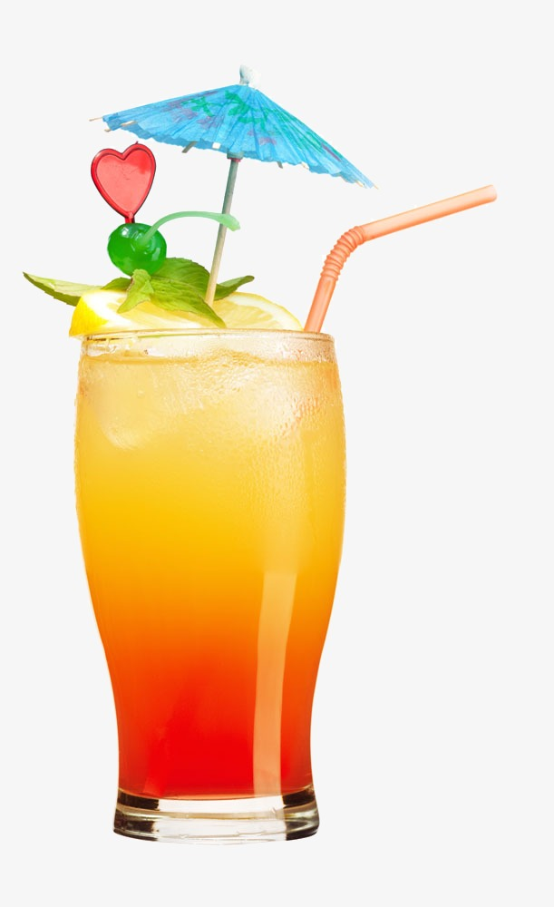 Yellow Cocktail, Cocktail Clipart, Rundl #35504.