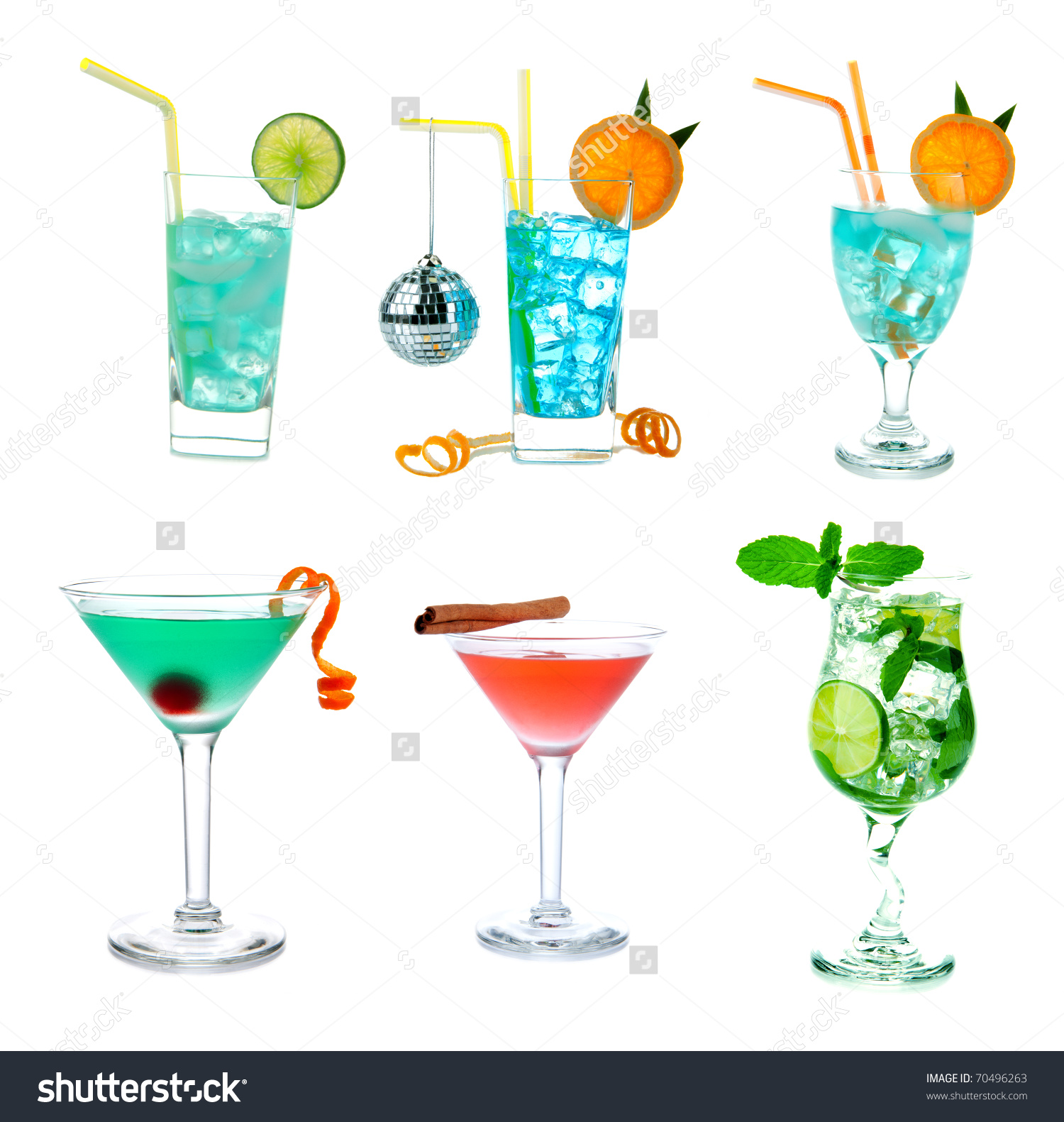 cocktail collage clipart #10