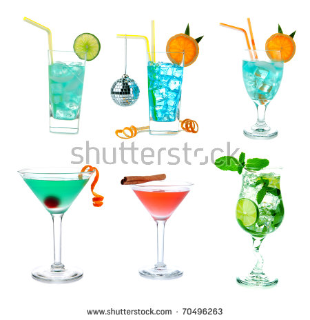 cocktail collage clipart #5