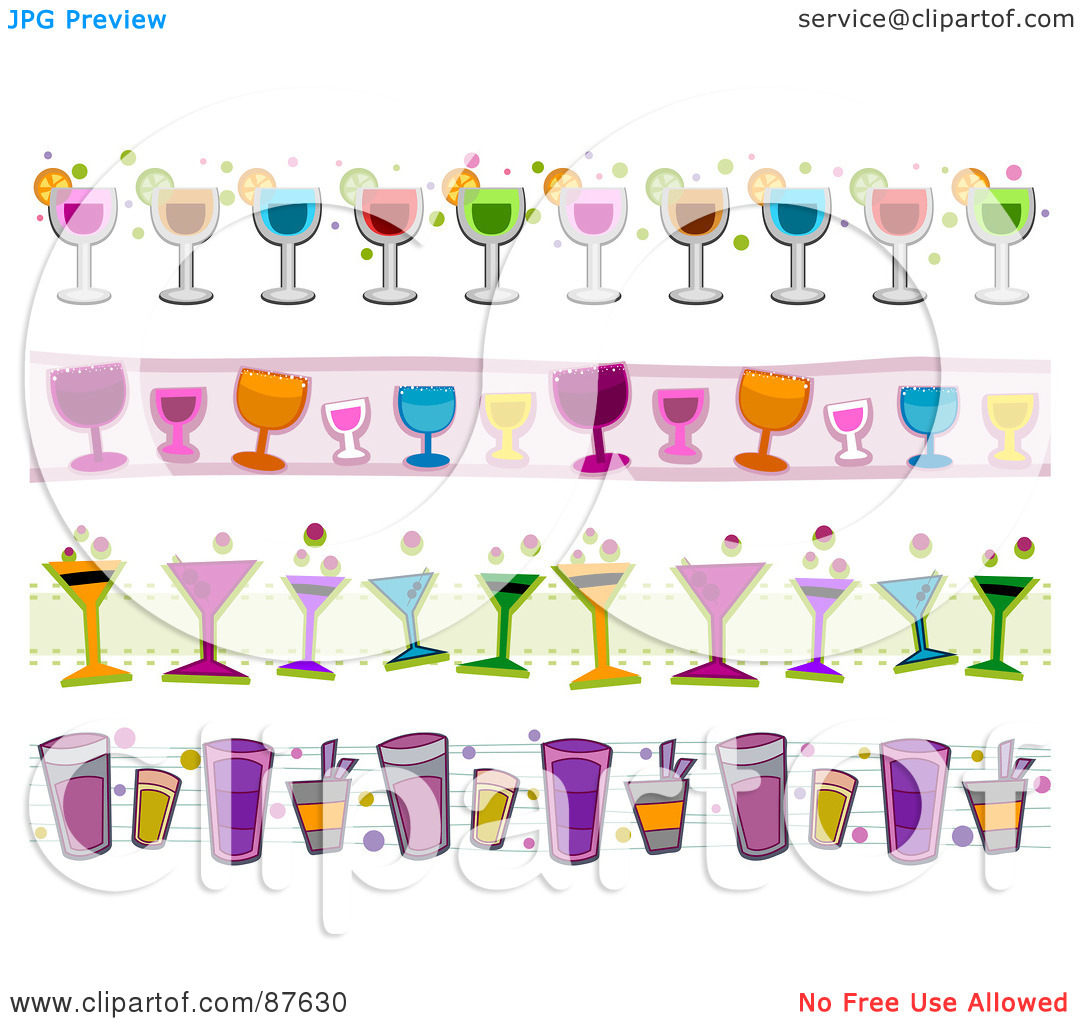 cocktail collage clipart #17