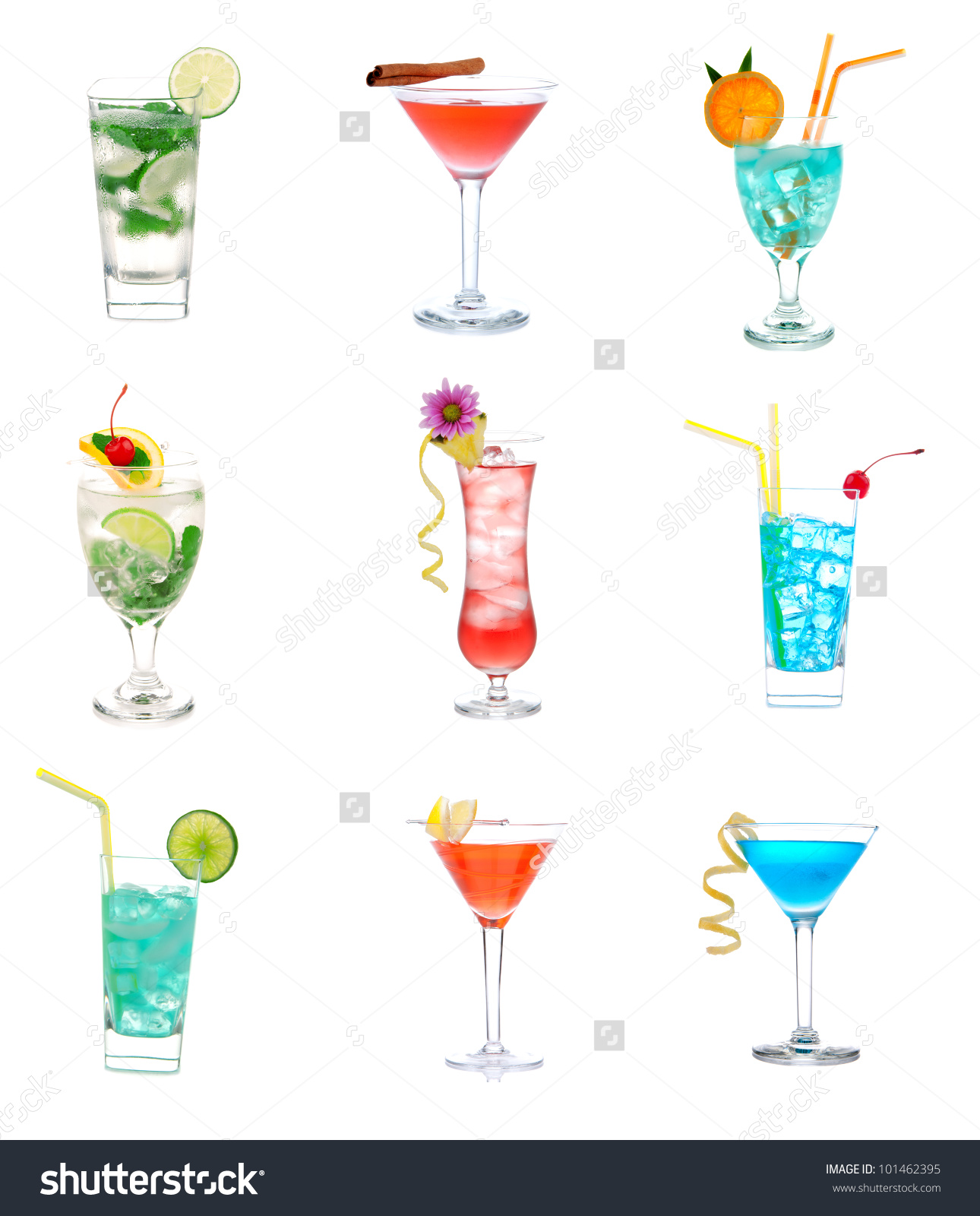 cocktail collage clipart #15