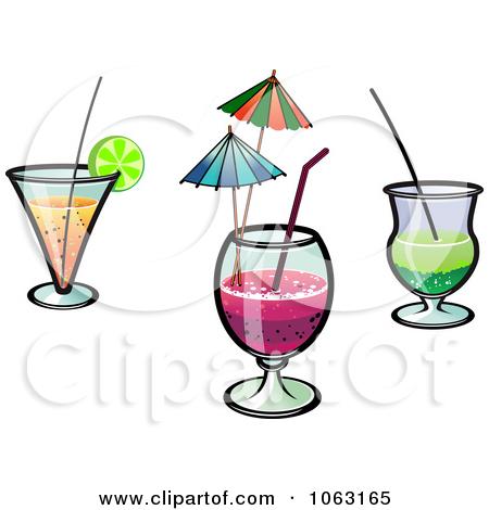 Clipart Cocktails Digital Collage.