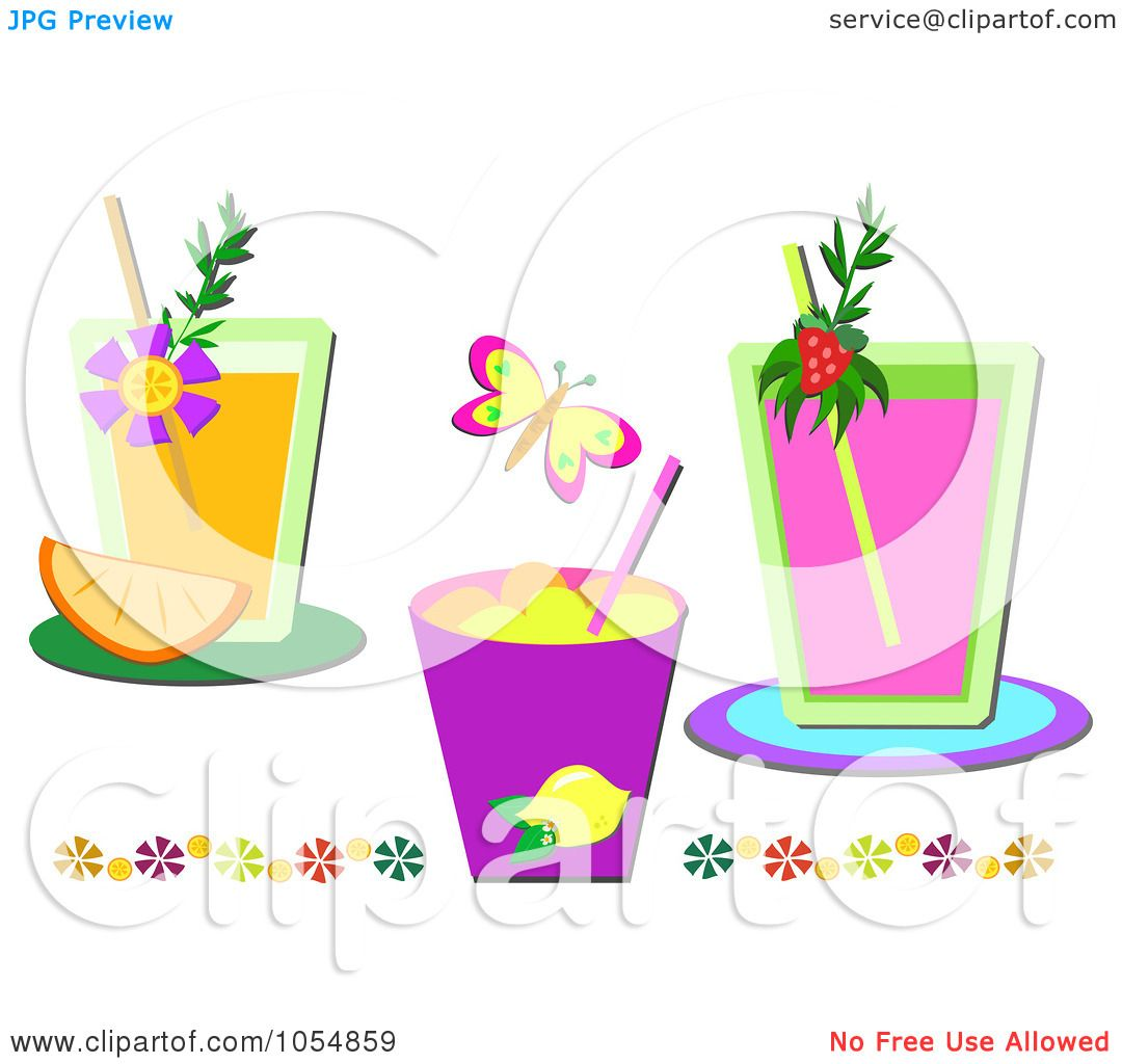 cocktail collage clipart #13