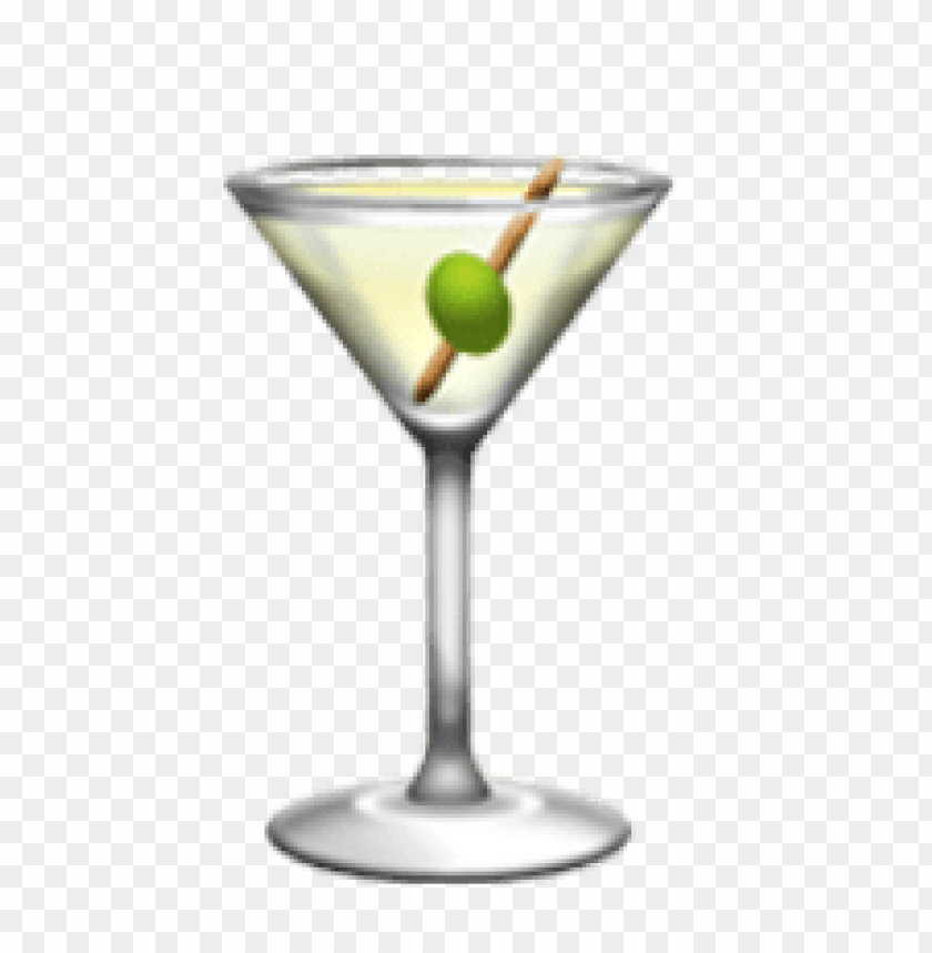 Download ios emoji cocktail glass clipart png photo.
