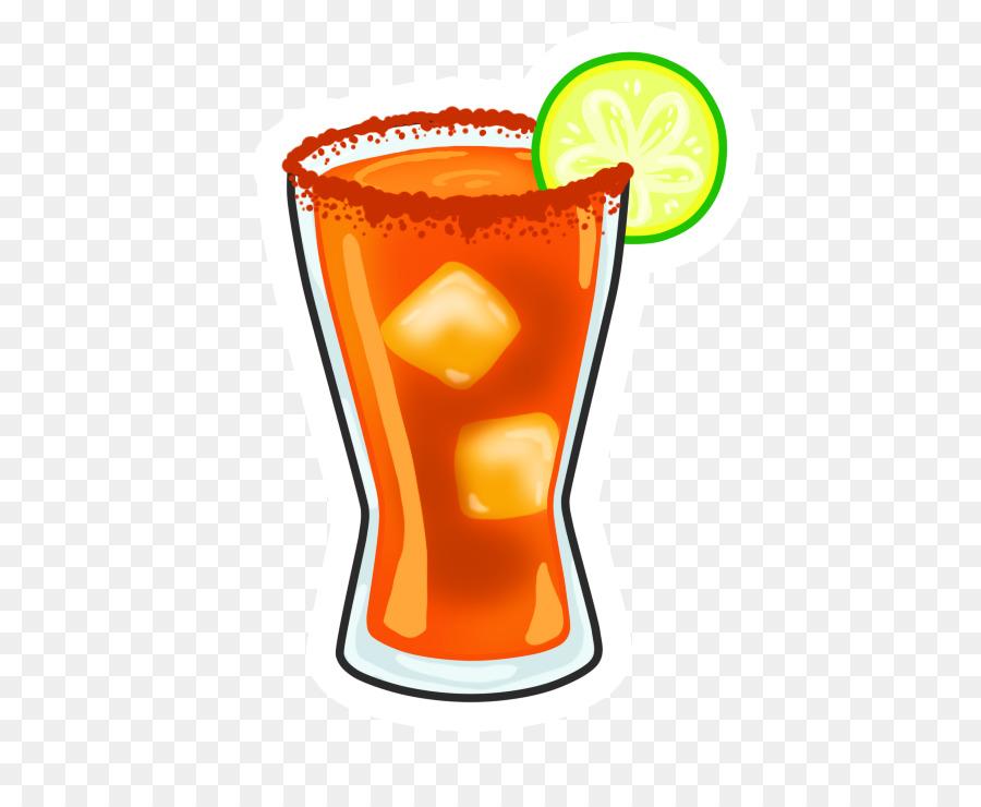 Michelada Cocktail Orange Drink Emoji.