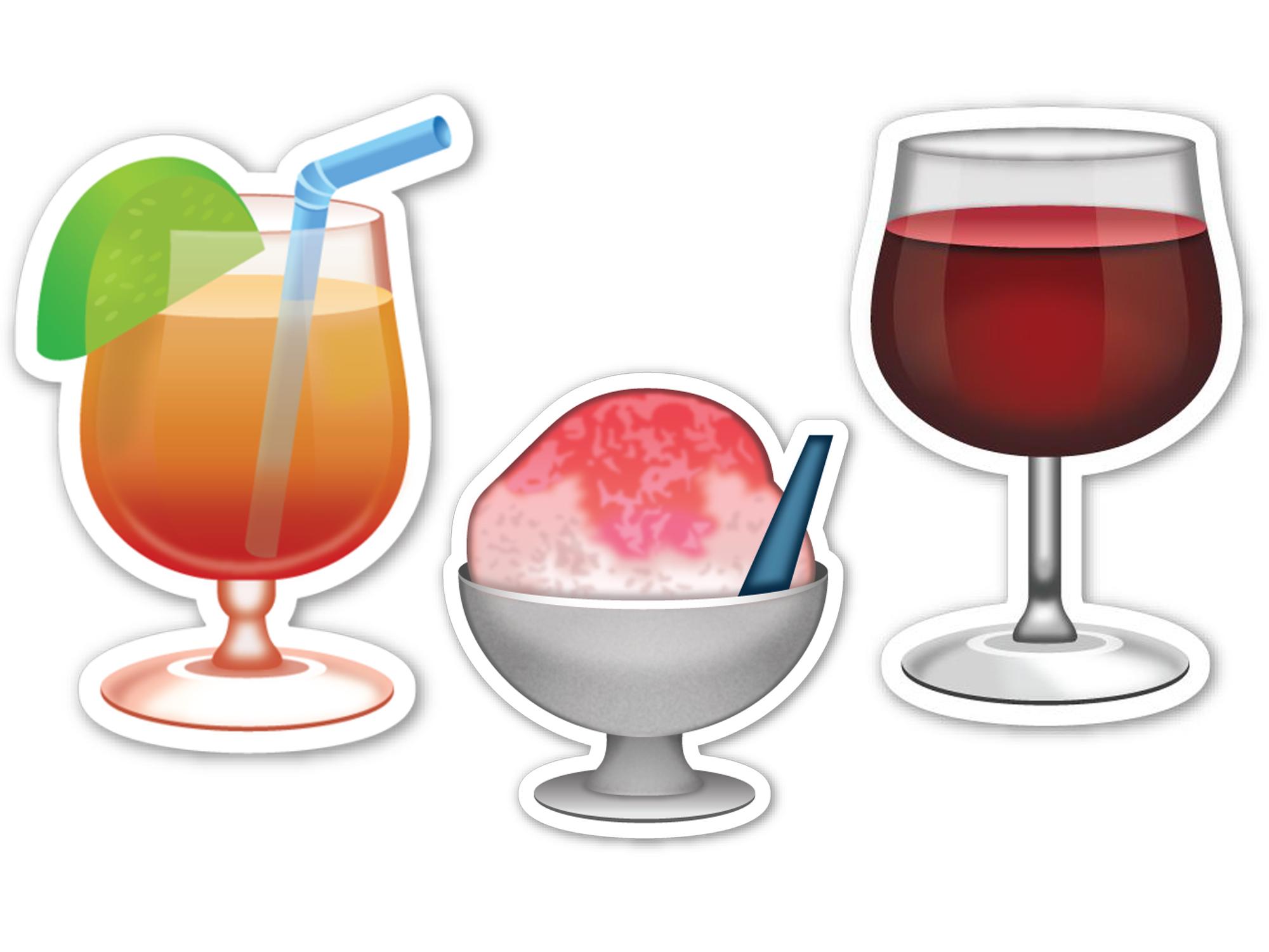 Cocktail Emoji and Drink Emoji Recipes.