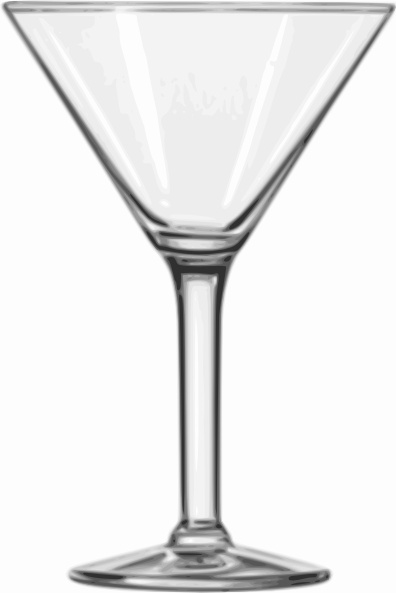 Cocktail Glass Martini clip art Free vector in Open office drawing.