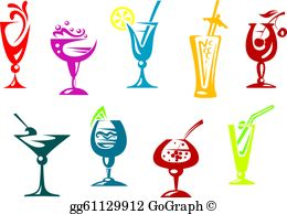 Cocktail Clip Art.