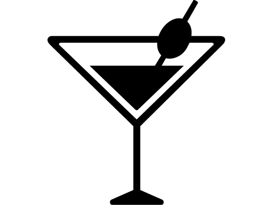 Martini #5 Martini Mixed Drink Party Beach Alcohol Liquor Ice Bar Olive  Toothpick Glass Logo .SVG .EPS .PNG Vector Cricut Cut Cutting File.