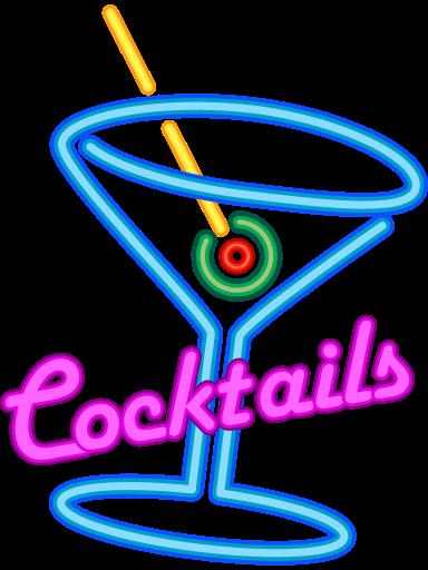File:Faux Neon Cocktails Sign.svg.