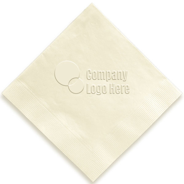 Custom Embossed Logo Cocktail Napkins.