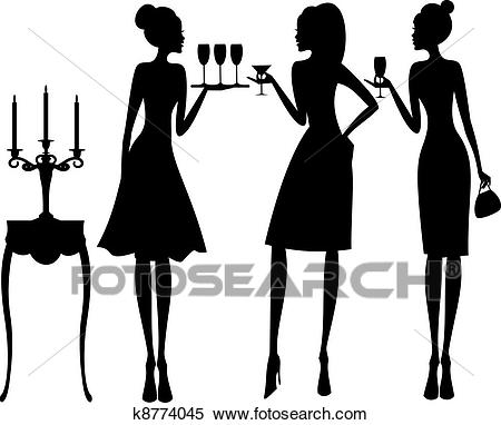 Cocktail Party Clipart.