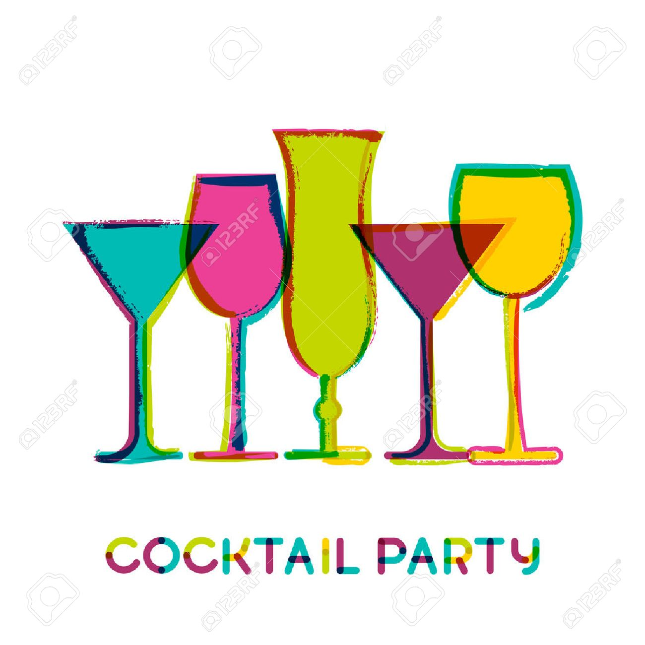 Cocktail party clipart 8 » Clipart Station.