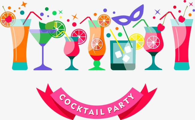 Vector Cocktail Party PNG Useful Clip Art Realistic 9.