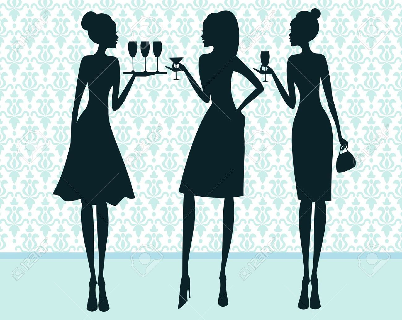 Image result for cocktail party clipart free.