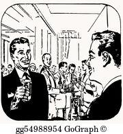 Cocktail Party Clip Art.