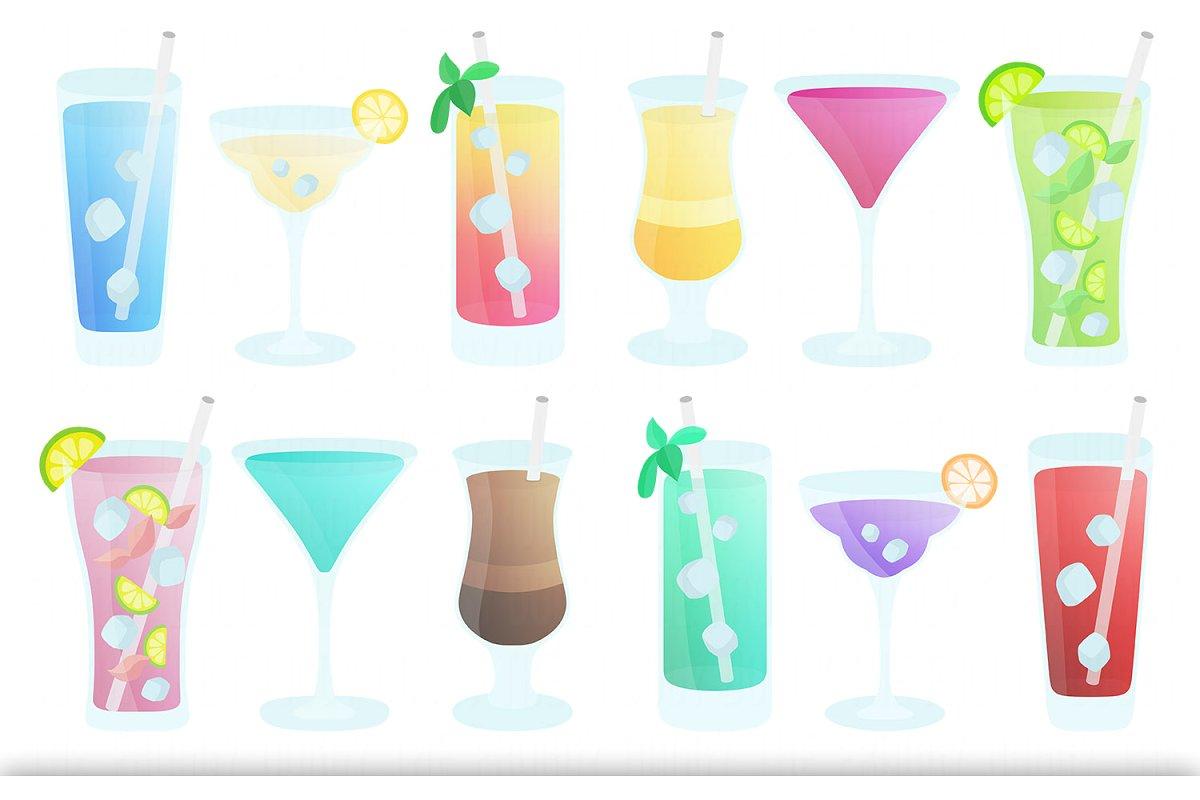 Drinks Clipart Set.