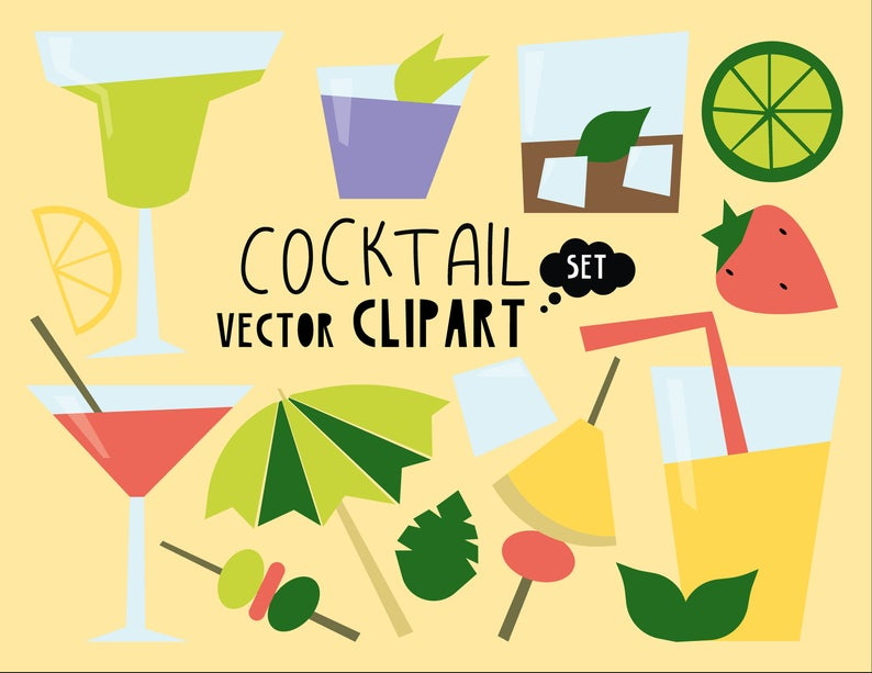Cocktail Party Clipart Commercial Use.