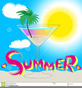 Summer Cocktail Party Clipart.