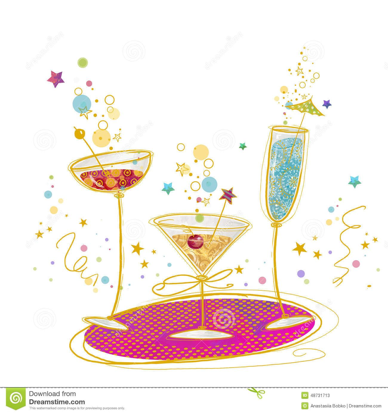 Showing Gallery For Birthday Martini Clipart.