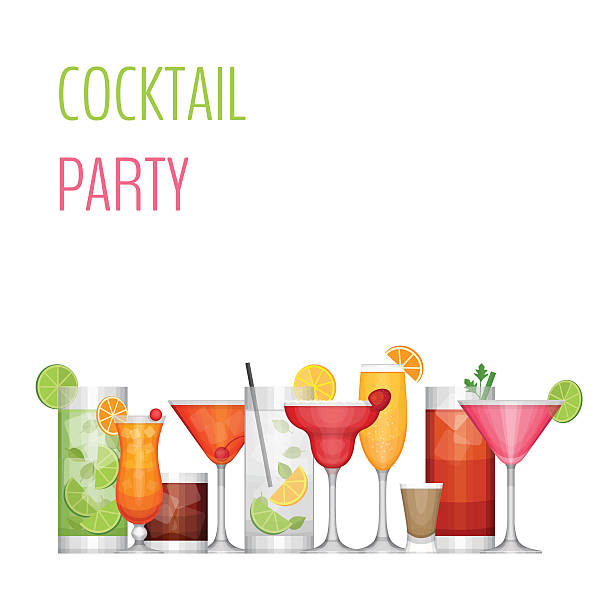 Best Cocktail Party Illustrations, Royalty.