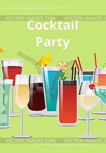 Cocktail Party Advert Poster.
