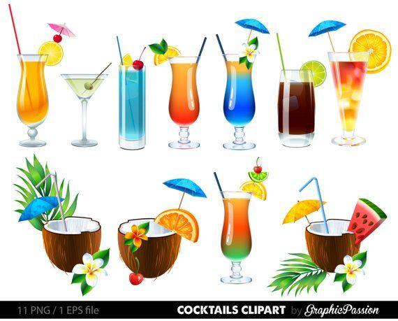 Summer Cocktails Clipart Cocktail Clip Art Summer Clipart.