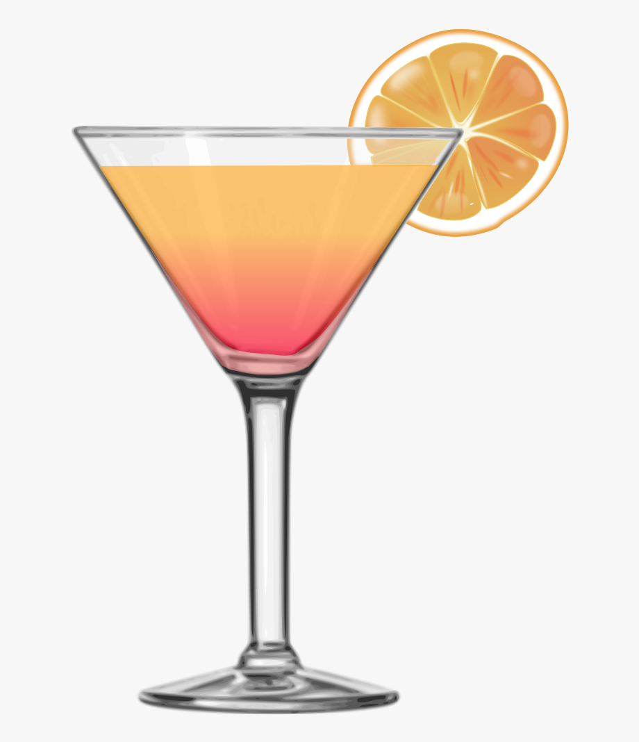 Glass Martini Alcoholic Tequila Sunrise Free Clipart.