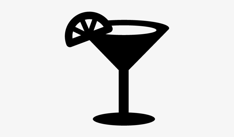 Cocktail Glass Vector.