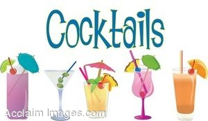 Clip Art of Different Kinds of Cocktails.