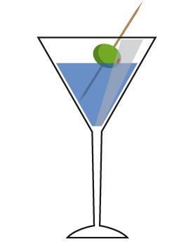 Clip art cocktails.