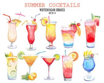 Cocktails clip art.