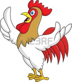 Cocky Rooster Royalty Free Stock Vector Art Illustration.