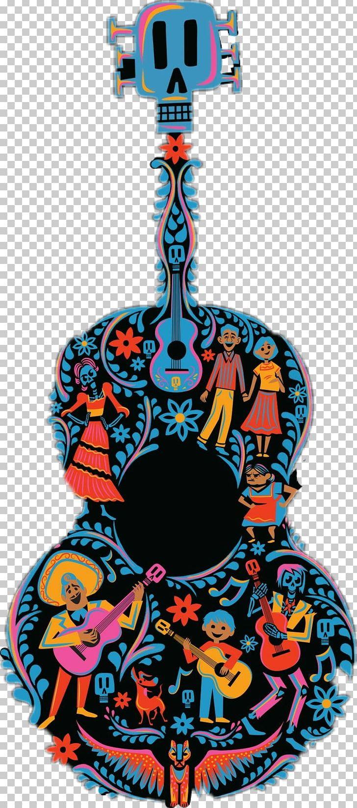 Pixar Coco Guitar Pattern Kids' T.