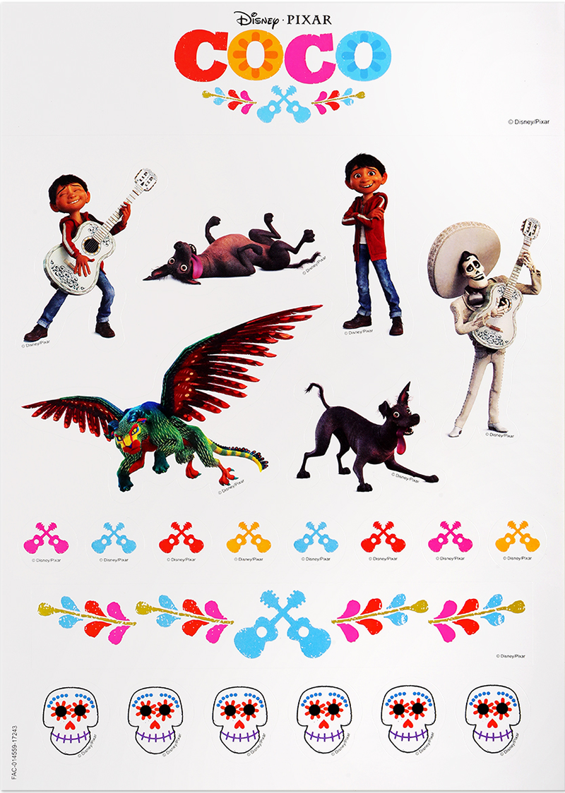 Disney/Pixar's COCO Sticker Pack.