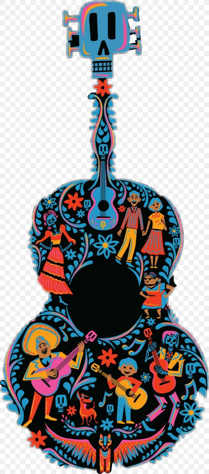 Pixar Clip Art Coco Guitar Pattern Kids\' T.