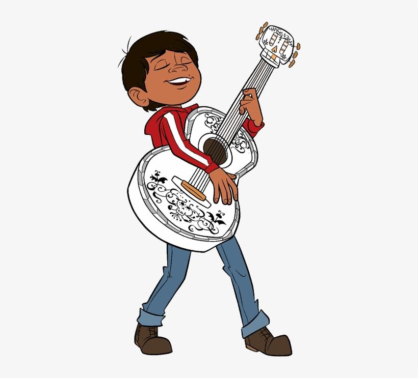 Disney S Art Galore Miguel Playing Guitar.