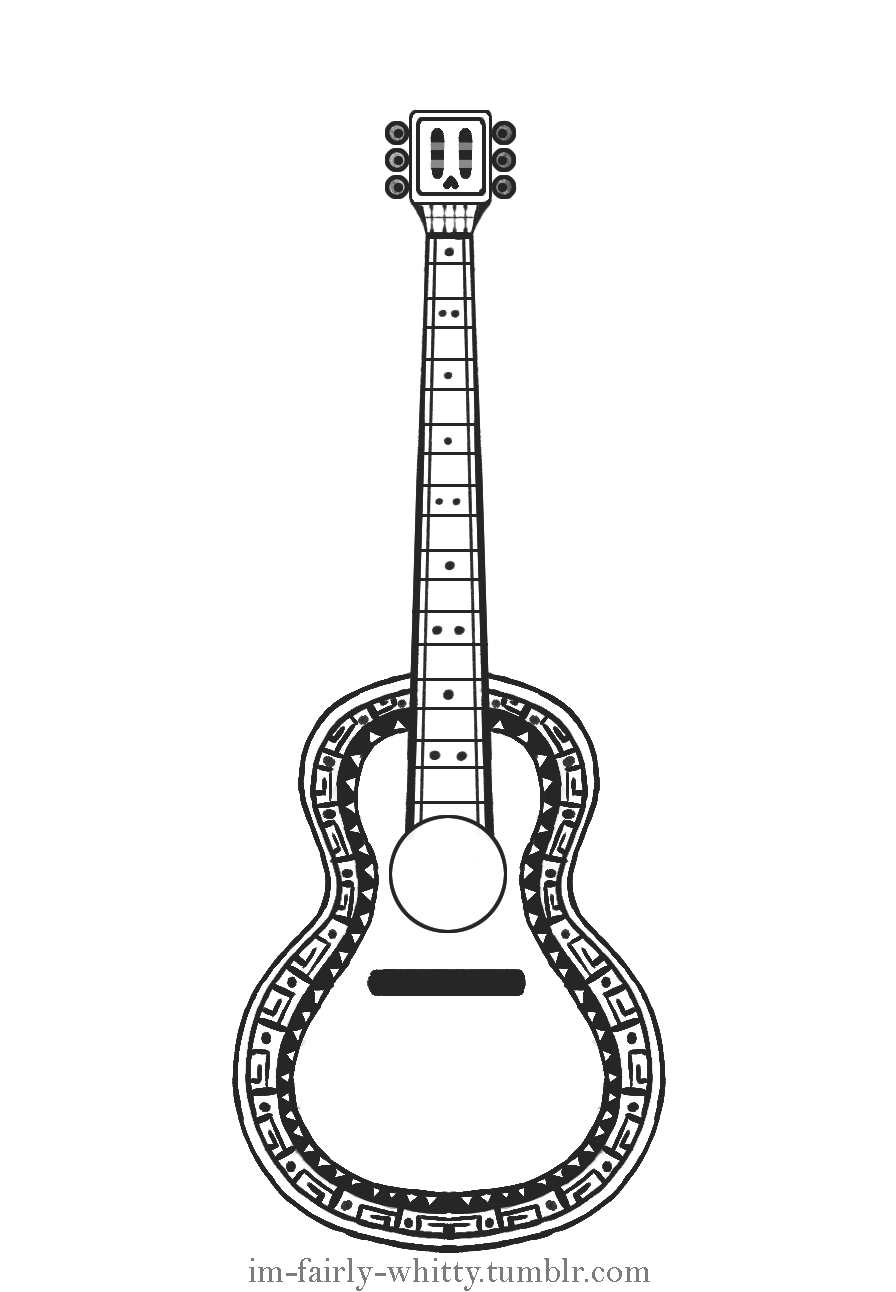 Wit is Drawing And Writing — Hector's Skull Guitar Tattoo.
